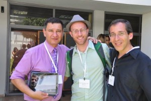 From right to left: me, Benjy Lovitt, Lior Manor and his iPad