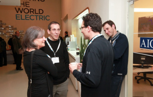 "Jody and Brian meeting with ""Brian of London"" at the Better Place customer event"